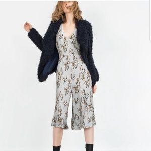 Zara orchid print jumpsuit